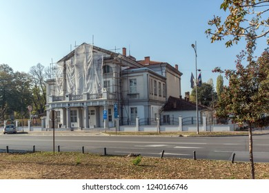 NOVI SAD, VOJVODINA, SERBIA - NOVEMBER 11, 2018: Typical Building in the City of Novi Sad, Vojvodina, Serbia