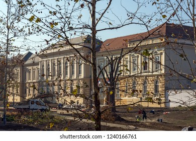 NOVI SAD, VOJVODINA, SERBIA - NOVEMBER 11, 2018: Building of Museum of Vojvodina in City of Novi Sad, Vojvodina, Serbia