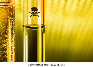 novichok posion sample in glass tube