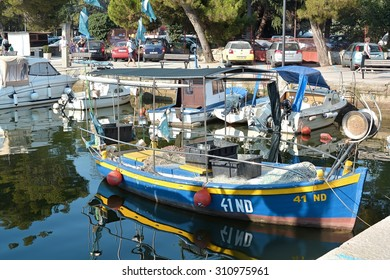 Novigrad, Croatia - JULY 20, 2015: Fishing boat in the port of Novigrad in Croatia