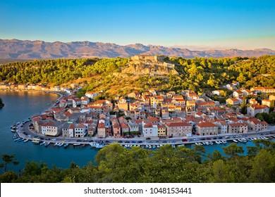 Novigrad Dalmatinski waterfront and bay view, Dalmatia, Croatia