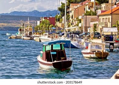 Novigrad dalmatinski waterfront summer view, Dalmatia, Croatia