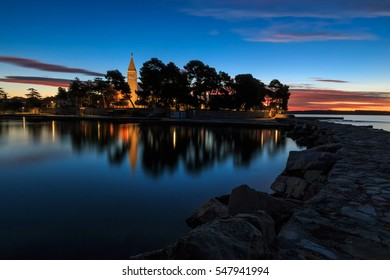 Novigrad  at dawn before the sunrize, Croatia