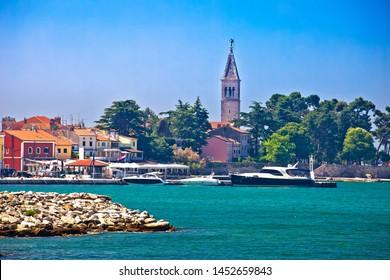 Novigrad Istarski historic waterfront and colorful harbor view, archipelago of Istria, Croatia