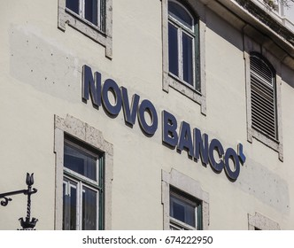 Novo Banco - a bank in Lisbon - LISBON / PORTUGAL - JUNE 15, 2017