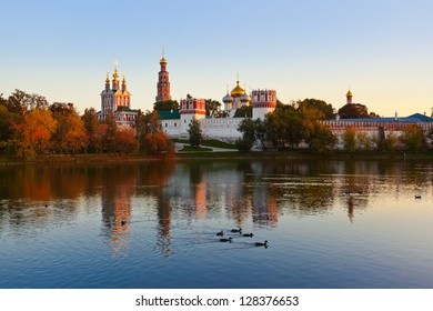 Novodevichiy convent in Moscow Russia - architecture background