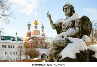 Novodevichy Convent also known as Bogoroditse-Smolensky Monastery in Moscow, Russia. UNESCO world heritage site