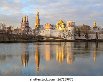 Novodevichy Convent monastery in early spring, Moscow, Russia, UNESCO world heritage site