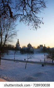 Novodevichy convent in winter, Moscow