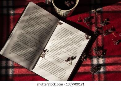 Novokuznetsk, Russia - 03.15.18: Book & Coffie