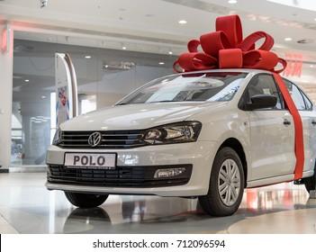 Novokuznetsk, Russia - August 24, 2017: Volkswagen Polo