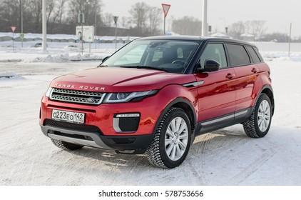 Novokuznetsk, Russia - February 02, 2016: Range Rover Evoque car