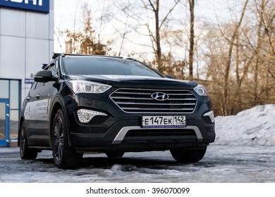 Novokuznetsk, Russia - March 22, 2016: Hyundai Santa FE.