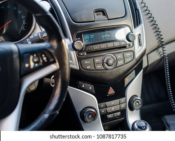 Novokuznetsk, Russia - November 02, 2017: Chevrolet Cruze interior.