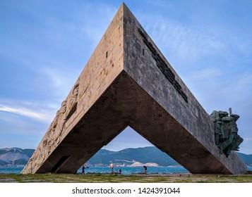 Novorossiysk,Russia - 14.05.2019: Memorial (monument) Malaya Zemlya in Novorossiysk