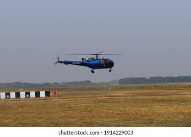 Novoselivka, Dnipropetrovsk region, Ukraine - 08.24.2016: Airshow, helicopter takes off