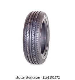 Novosibirsk, Russia, August 21, 2018: Car tire, new tyre Maxxis on white background isolated close up
