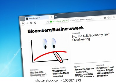 Novosibirsk, Russia - May 12, 2018 - Homepage of Bloomberg website on the display of PC, url - Bloomberg.com