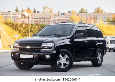 Novosibirsk, Russia - Seotember 07, 2017:  CHEVROLET TRAILBLAZER, front view. Photography of a modern car  on a parking in Novosibirsk