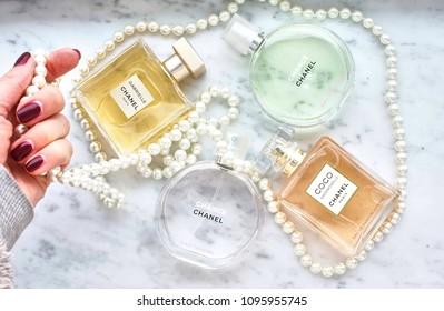Novosibirsk,Russia - March 25,2018 : Chanel perfum