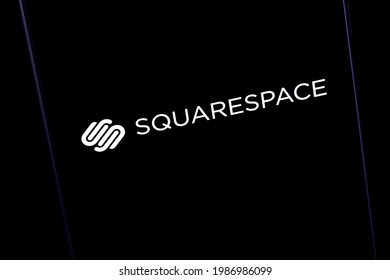 Novosibirsk,Russia - May, 5 - 2021: Editorial photo on Squarespace theme.  Illustrative photo for news about Squarespace - an American website builder and hosting service