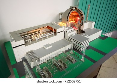 NOVOVORONEZH, RUSSIA - APR 11, 2017: A power unit layout in the museum of the Novovoronezh NPP