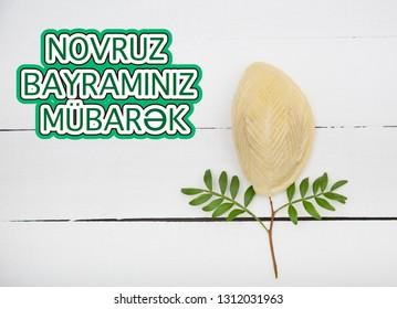 Novruz holiday poster with wording in translation Happy Novruz Celebration