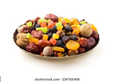 Novruz snacks on a white background