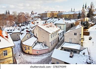 Novy Svet in Winter, Prague, Czech republic