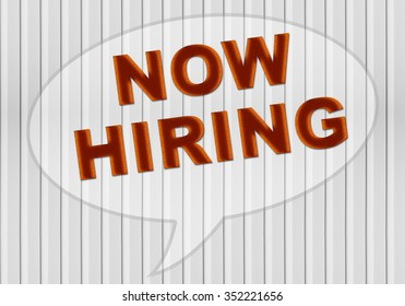 Now hiring on white grey wooden style