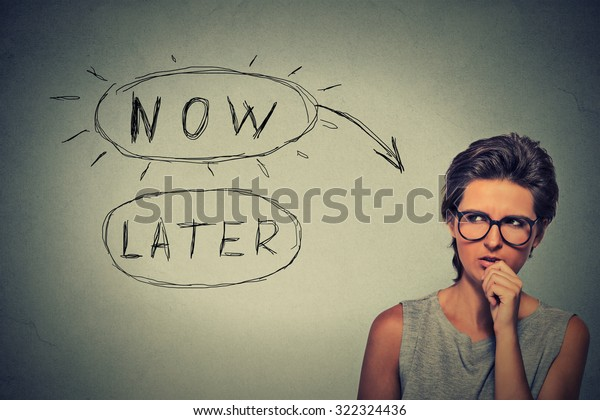 Now or later concept