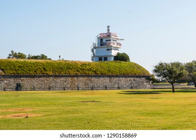 The now vacant M.A.R.S. radio station, Bastion No. 4 at historic Fort Monroe in Hampton, Virginia.