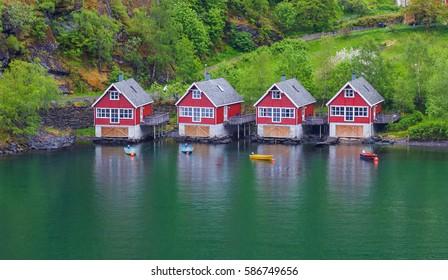 Nowergian Boat houses  in Norway
