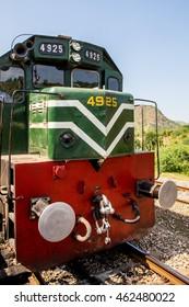 Nowshera, PAKISTAN - Sept 27: Picture of Pakistan Rail engine in Nowshera Peshawar  , on 27 Sept, 2015 Nowshera
