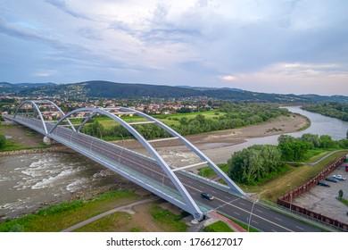 Nowy Sącz, New bridge ocet the Dunajec river