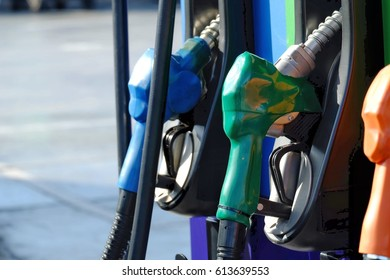 nozzle fuel in gas station
