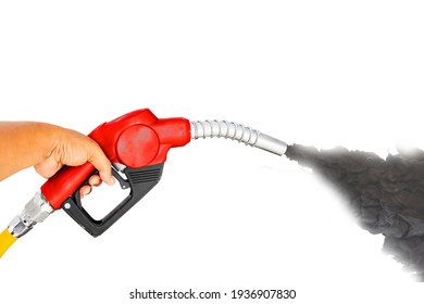 Nozzle red green yellow orange color fuel gasoline dispenser hand held separator