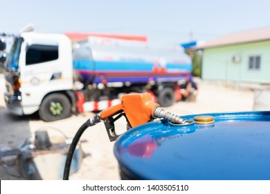 nozzles for safe retail and commercial petroleum filling; transfer gas from gas truck to gallon bucket .