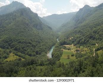 NP Durmitor. Canyon Tara river. Montenegro