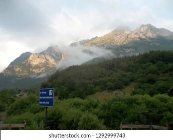 NP Prokletije. Montenegro-Albanian border. Vusanje