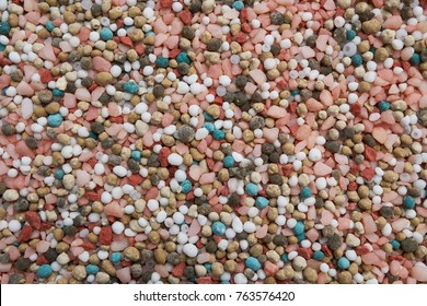 NPK , fertilizer colorful tone