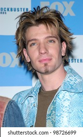NSYNC star JC CHASEZ at the 2001 Blockbuster Awards in Los Angeles. 10APR2001.    Paul Smith/Featureflash