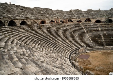 ntique city Side Turkey amphitheater old city old building antiquity
