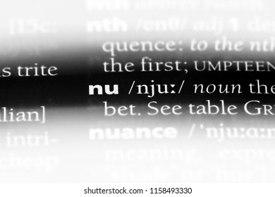 nu word in a dictionary. nu concept.