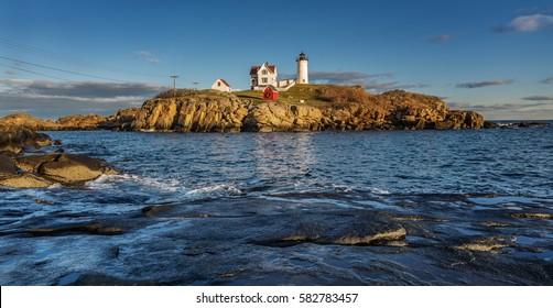 Nubble Lighthouse in Cape Neddick