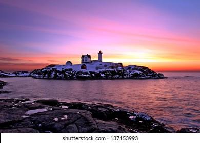 Nubble Lighthouse, Cape Neddick, York Maine
