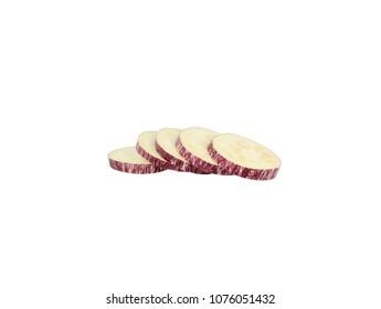 Nubia eggplant tiger aubergine slices five