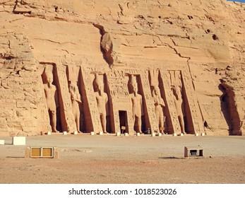 Nubia, Egypt. November 2015. Abu Simbel - Nefertari's temple.