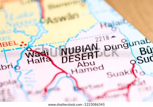 Nubian Desert Africa On Map Stock Photo (Edit Now) 1223086345