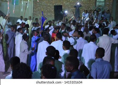nubian live a party in the street - location aswan , egypt - 26/5/2015